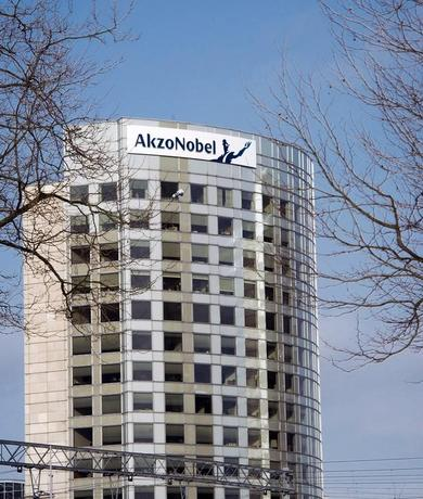 The AkzoNobel headquarters building is pictured in Amsterdam February 6, 2014.   REUTERS/Toussaint Kluiters/United Photos/Files