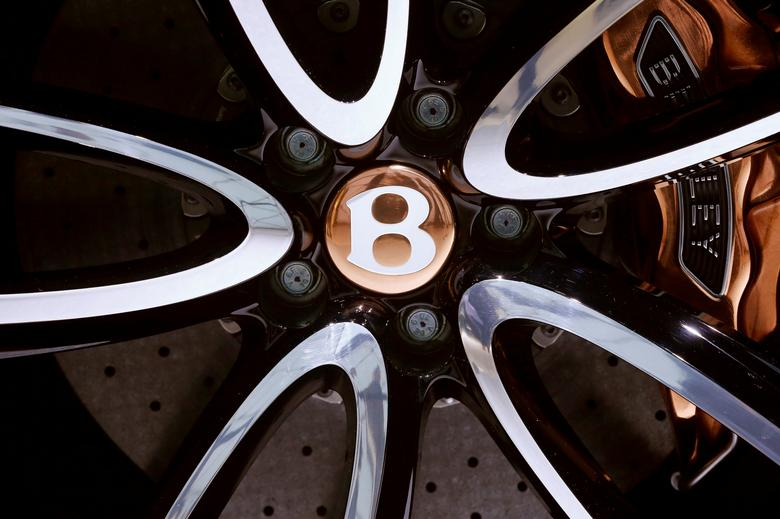 The wheel hub of a Bentley is seen during the the 87th International Motor Show at Palexpo in Geneva, Switzerland, March 7, 2017. REUTERS/Arnd Wiegmann
