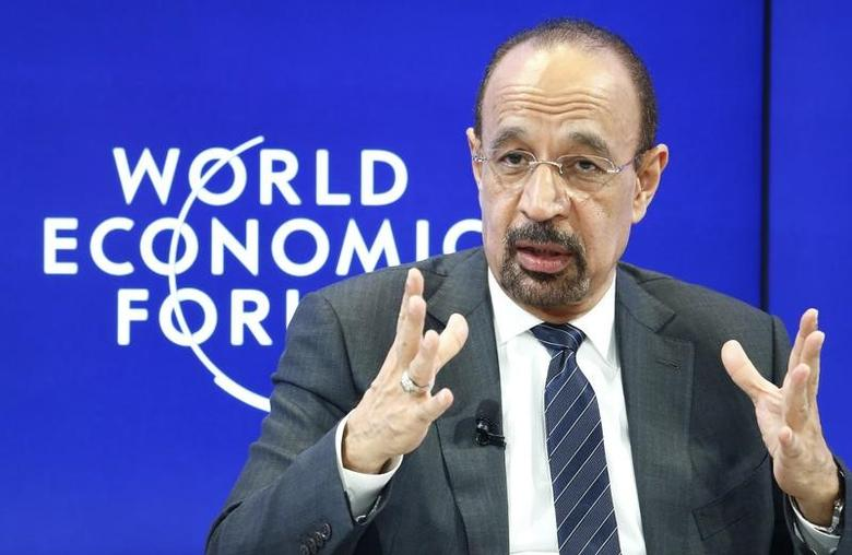 FILE PICTURE: Khalid al-Falih Saudi energy minister attends the World Economic Forum (WEF) annual meeting in Davos, Switzerland January 19, 2017.  REUTERS/Ruben Sprich