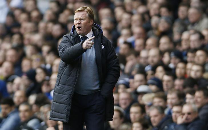 Britain Soccer Football - Tottenham Hotspur v Everton - Premier League - White Hart Lane - 5/3/17 Everton manager Ronald Koeman  Action Images via Reuters / Paul Childs Livepic