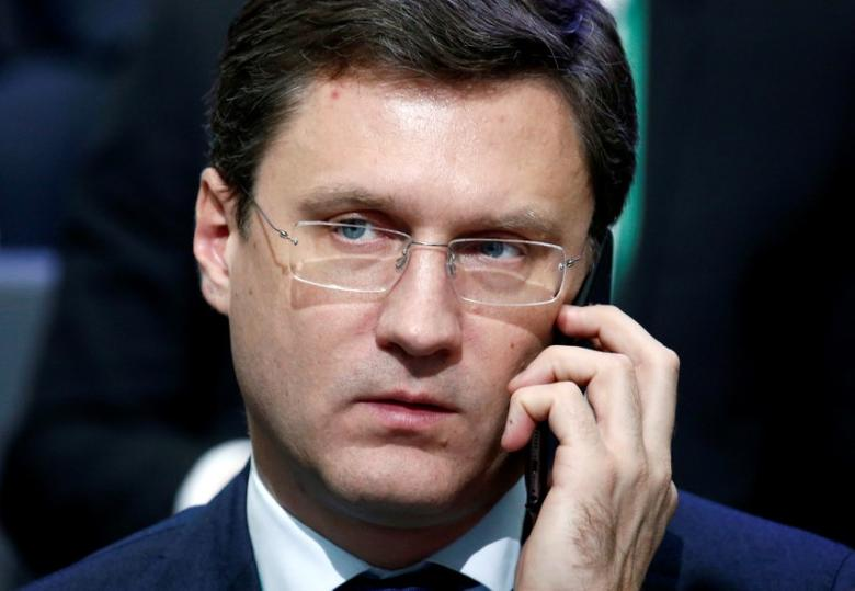 FILE PHOTO:  Russian Energy Minister Alexander Novak attends a conference dedicated to the 175th anniversary of Sberbank in Moscow, Russia, November 10, 2016. REUTERS/Sergei Karpukhin/File Photo