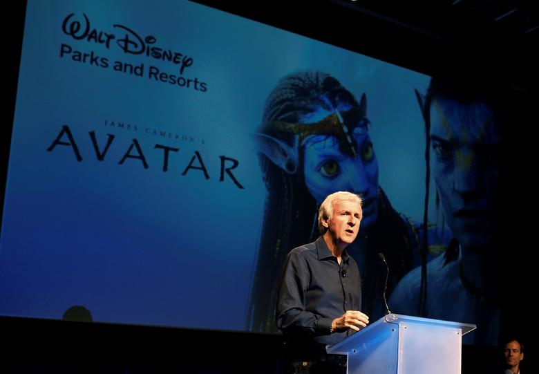 FILE PHOTO - Director James Cameron announce a long-term agreement which will bring ''Avatar'' themed lands to Disney parks as he speaks at a media briefing in Glendale, Calfornia, U.S. on September 20, 2011.   REUTERS/Fred Prouser/File Photo