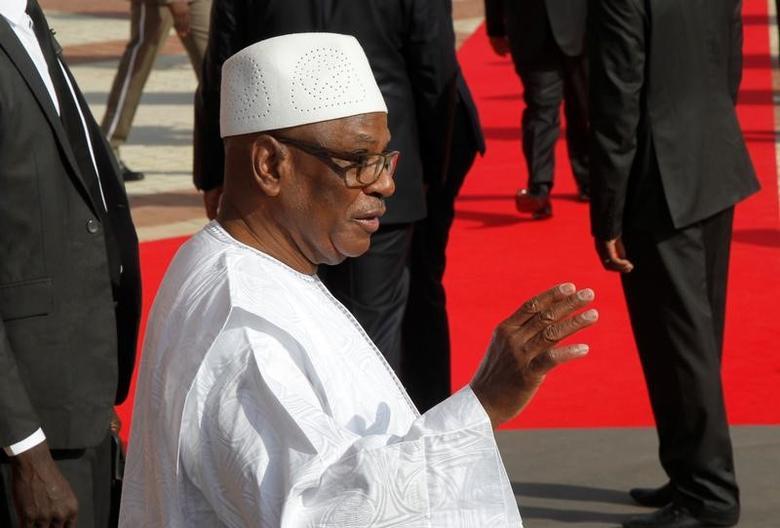 Mali's President Ibrahim Boubacar Keita   in Bamako, Mali, January 14, 2017. REUTERS/Luc Gnago