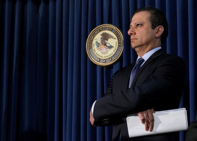 Preet Bharara, U.S. Attorney for the Southern District of New York and Obama appointee, is expected to remain in his post according to a law enforcement official.   REUTERS/Brendan McDermid