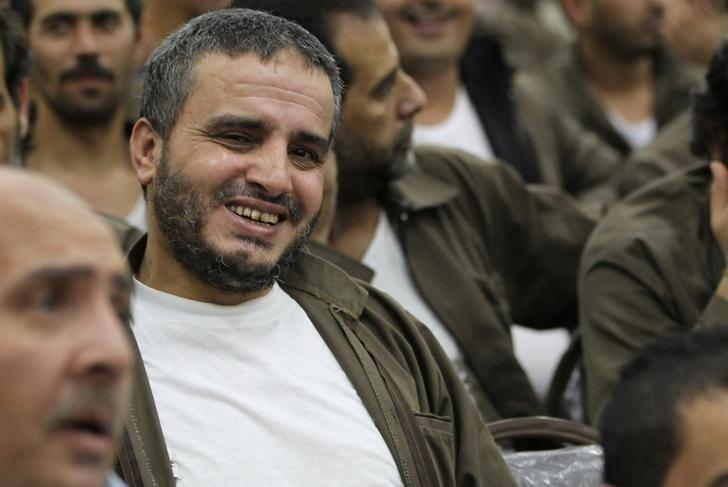 Ahmad Daqamseh, a Jordanian soldier convicted of killing seven Israeli schoolgirls on March 13, 1997, is seen at Um Alluol prison in the city of Mafraq, Jordan, August 7, 2012. REUTERS/Muhammad Hamed/Files