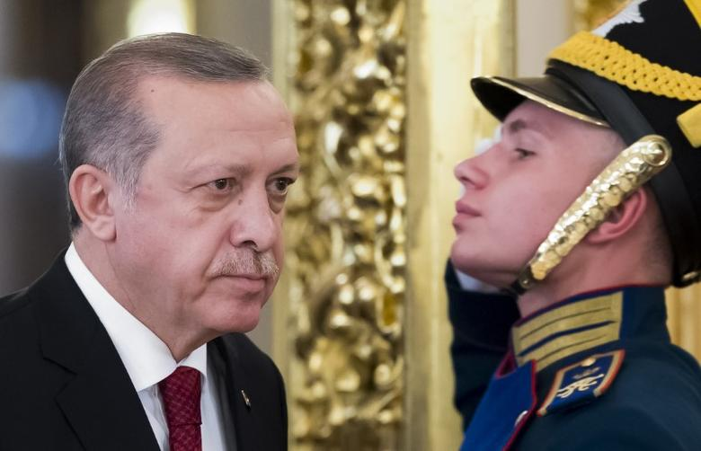 Turkish President Tayyip Erdogan in Moscow, Russia, March 10, 2017. REUTERS/Alexander Zemlianichenko/Pool -
