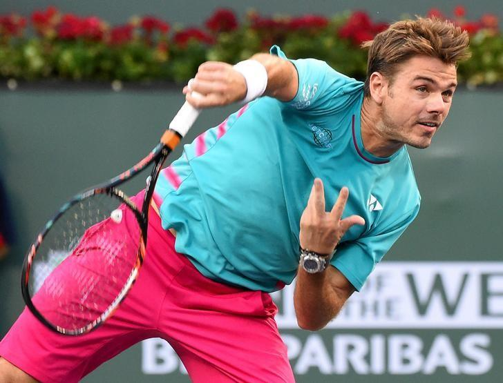 Mar 13, 2017; Indian Wells, CA, USA; Stan Wawrinka (SUI) as he defeated Philipp Kohlschreiber (not pictured) in his third round in the BNP Paribas Open at the Indian Wells Tennis Garden. Jayne Kamin-Oncea-USA TODAY Sports/Files