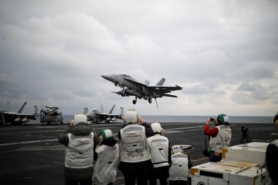 U.S. aircraft carrier joins South Korea drills