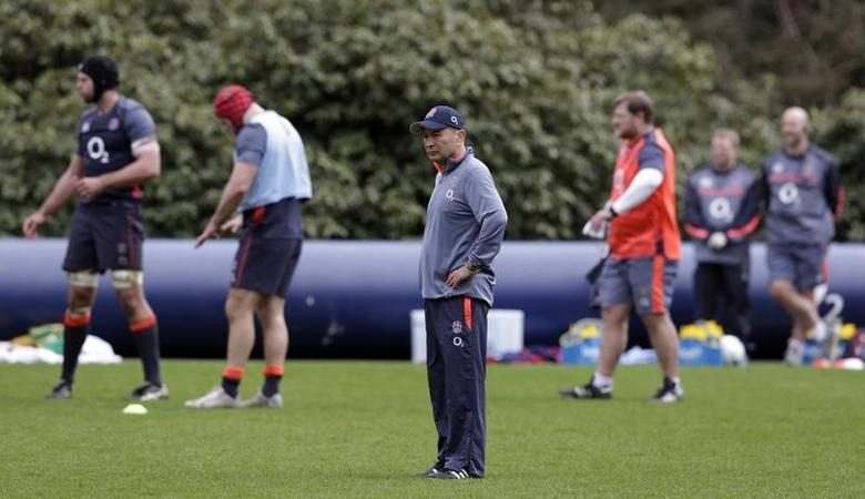 Britain Rugby Union - England Training - Pennyhill Park - 14/3/17 England head coach Eddie Jones during training Action Images via Reuters / Henry Browne Livepic EDITORIAL USE ONLY. - RTX30XPE