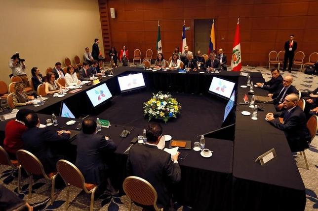 3月14日、TPP署名国や中国と韓国の代表らによる2日間の会合がチリのビニャデルマルで開幕した(2017年 ロイター/Rodrigo Garrido)