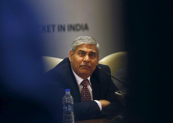 Shashank Manohar speaks during a news conference in Mumbai October 4, 2015. REUTERS/Shailesh Andrade