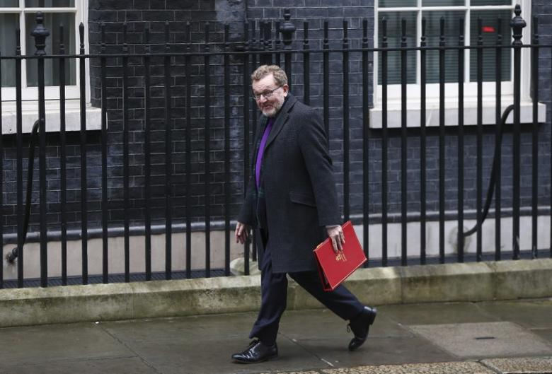 Britain's Secretary of State for Scotland David Mundell arrives at 10 Downing Street for a cabinet meeting ahead of the budget in London, March 8, 2017. REUTERS/Neil Hall