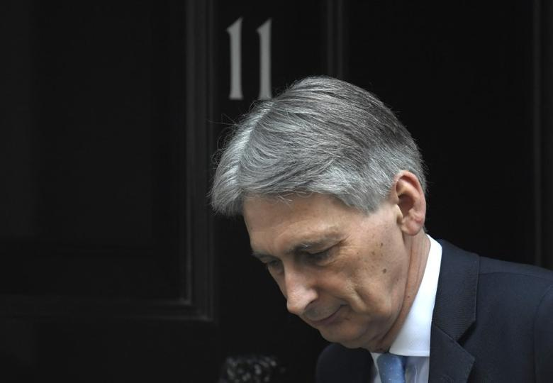 Britain's Chancellor of the Exchequer Hammond leaves Downing Street in London, Britain, March 15, 2017. REUTERS/Toby Melville