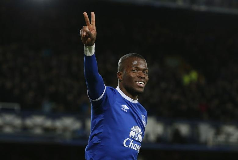 Britain Football Soccer - Everton v Southampton - Premier League - Goodison Park - 2/1/17 Everton's Enner Valencia celebrates scoring their first goal  Reuters / Andrew Yates Livepic/File Photo