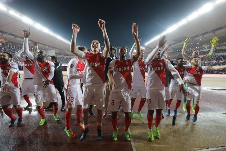 Soccer Football - AS Monaco v Manchester City - UEFA Champions League Round of 16 Second Leg - Stade Louis II, Monaco - 15/3/17 Monaco's players celebrate after the game Reuters / Eric Gaillard Livepic/Files