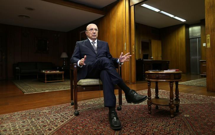 Brazil's Finance Minister Henrique Meirelles attends an interview with Reuters in Brasilia, Brazil, February 21, 2017. REUTERS/Adriano Machado