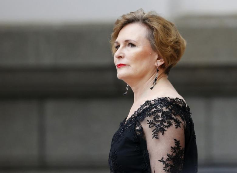 Democratic Alliance (DA) leader Helen Zille arrives for President Jacob Zuma's Sate of the Nation address at the opening session pf Parliament in Cape Town, February 12, 2015.  REUTERS/Mike Hutchings