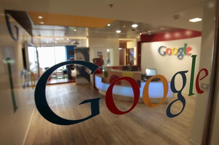 FILE PHOTO The Google logo is seen on a door at the company's office in Tel Aviv January 26, 2011. REUTERS/Baz Ratner/File Photo