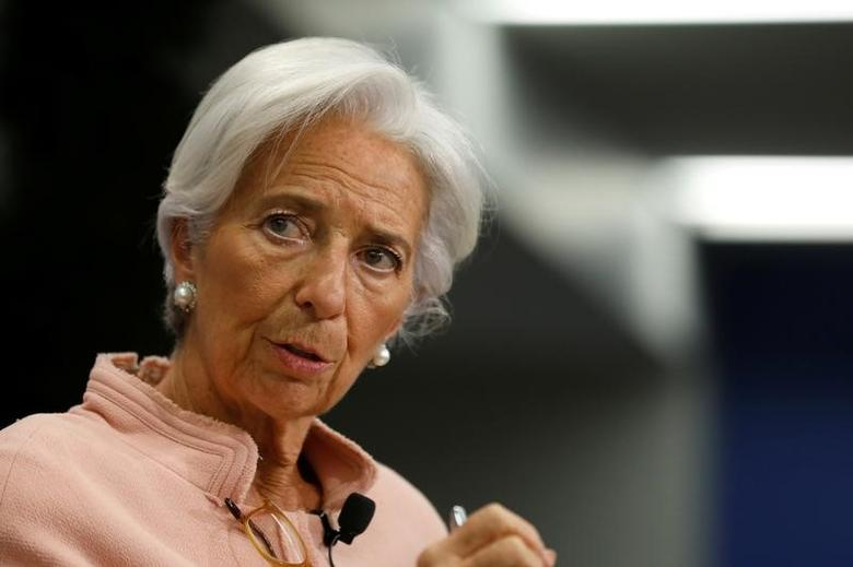 FILE PHOTO - International Monetary Fund (IMF) Managing Director Christine Lagarde delivers remarks at the Atlantic Council in Washington, U.S., February 8, 2017. REUTERS/Jonathan Ernst