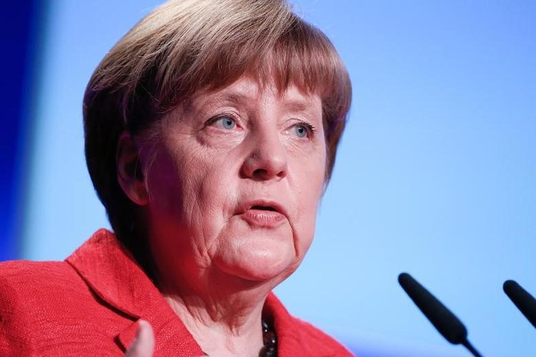 German Chancellor Angela Merkel  in Berlin, Germany, March 16, 2017.     REUTERS/Fabrizio Bensch