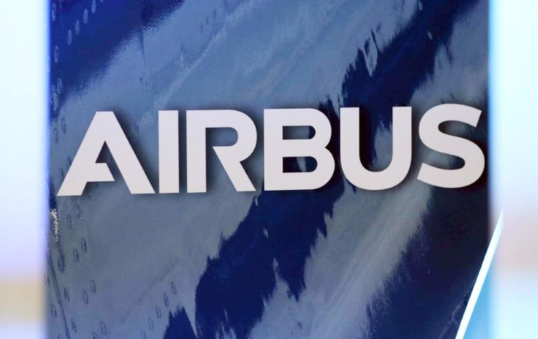The logo of Airbus group is pictured in Colomiers near Toulouse, France, January 11, 2017.   REUTERS/Regis Duvignau