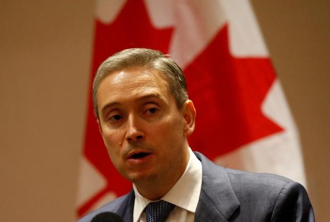 Canada's International Trade Minister Francois-Philippe Champagne speaks to the media during a news conference at a hotel in Mexico City, Mexico March 16, 2017. REUTERS/Henry Romero - RTX31E3V