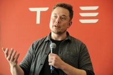 Founder and CEO of Tesla Motors Elon Musk speaks during a media tour of the Tesla Gigafactory, which will produce batteries for the electric carmaker, in Sparks, Nevada, U.S. July 26, 2016.  REUTERS/James Glover II