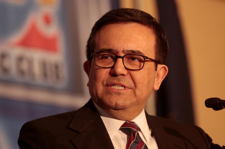 Ildefonso Guajardo Villarreal, Mexico's Economy Minister, addresses the Detroit Economic Club in Detroit, Michigan, U.S., March 3, 2017. REUTERS/Rebecca Cook
