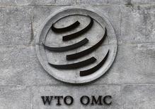 Logo da OMC na sede da organização em Genebra. 03/06/2016 REUTERS/Denis Balibouse