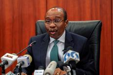 Nigeria's central bank governor Godwin Emefiele speaks during the monthly Monetary Policy Committee meeting in Abuja, Nigeria  January 26, 2016.  REUTERS/Afolabi Sotunde