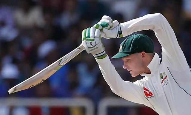 India v Australia - Third Test cricket match - Jharkhand State Cricket Association Stadium, Ranchi, India - 20/03/17 - Australia's Peter Handscomb plays a shot. REUTERS/Adnan Abidi
