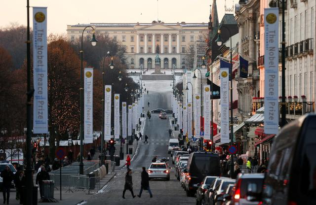 The Royal Palace is seen at the end of Karl Johans Gate in Oslo. REUTERS/Suzanne Plunkett