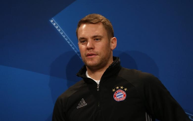 Bayern Munich Press Conference - Allianz Arena - 14/2/17 Bayern Munich's Manuel Neuer during the press conference Reuters / Michael Dalder Livepic