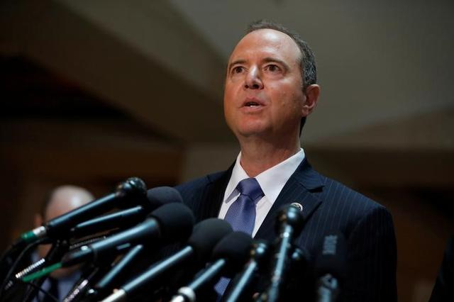 House Select Committee on Intelligence Ranking Member Rep. Adam Schiff (D-CA) speaks with the media about the ongoing Russia investigation on Capitol Hill in Washington, D.C., U.S. March 15, 2017.  REUTERS/Aaron P. Bernstein