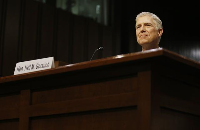 Supreme Court nominee judge Neil Gorsuch attends his Senate Judiciary Committee confirmation hearing on Capitol Hill. REUTERS/Jonathan Ernst