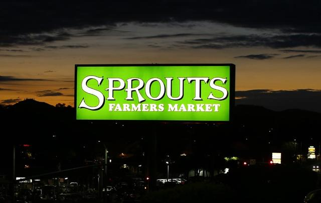 A billboard advertisement for Sprouts Farmers Market, a health food chain store, is shown in Encinitas, California September 9, 2014.  REUTERS/Mike Blake