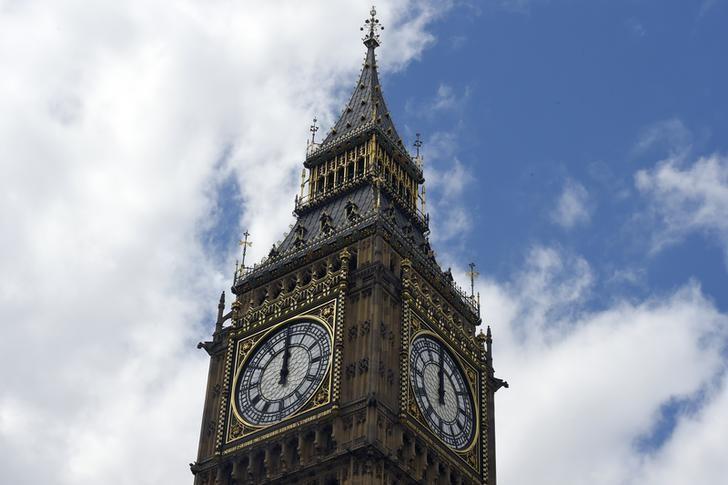 2016年6月24日,英国伦敦地标之一--大本钟。REUTERS/Toby Melville