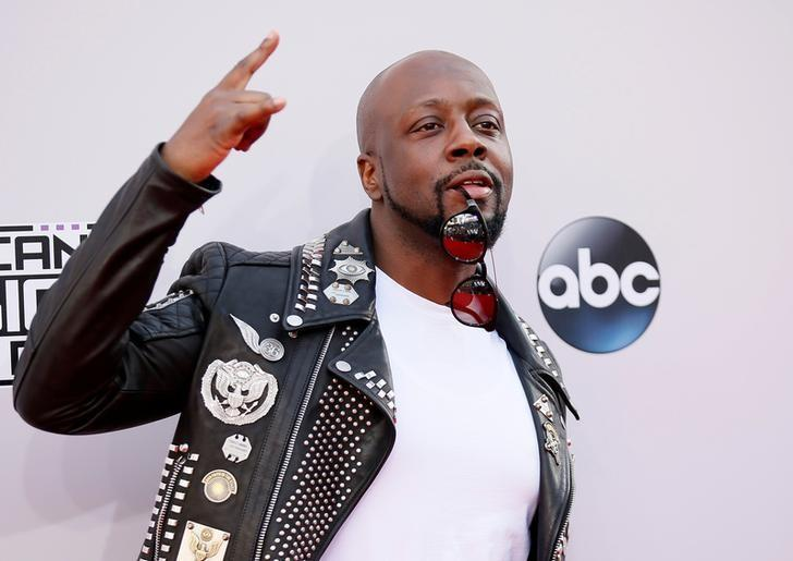 FILE PHOTO: Wyclef Jean arrives at the 42nd American Music Awards in Los Angeles, California November 23, 2014.  REUTERS/Danny Moloshok/File Photo