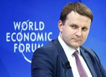 Maxim Oreshkin, Minister of Economic Development of Russia attends the World Economic Forum (WEF) annual meeting in Davos, Switzerland January 19, 2017.  REUTERS/Ruben Sprich - RTSWA29