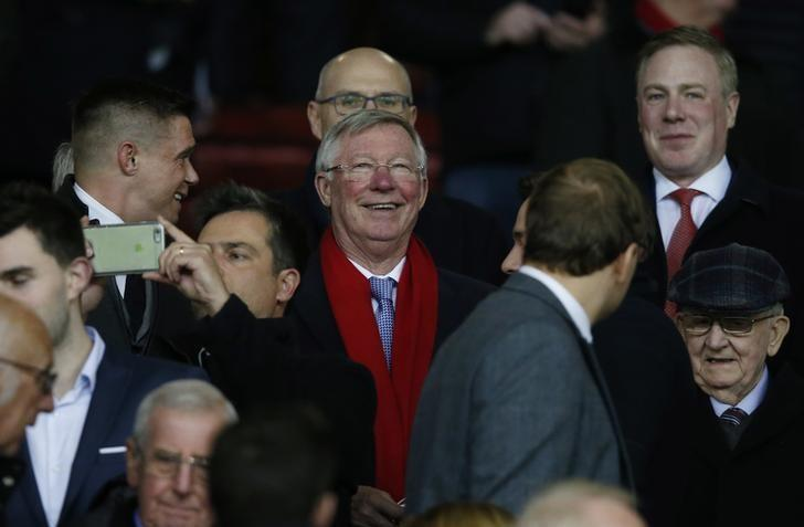 Britain Football Soccer - Manchester United v FC Rostov - Europa League Round of 16 Second Leg - Old Trafford, Manchester, England - 16/3/17 Sir Alex Ferguson in the stands Reuters / Andrew Yates Livepic