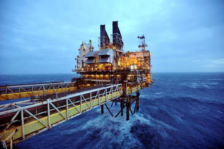 A section of the BP Eastern Trough Area Project (ETAP) oil platform is seen in the North Sea, around 100 miles east of Aberdeen in Scotland, Britain, February 24, 2014.    REUTERS/Andy Buchanan/Pool/File Photo