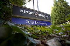 The entrance for the Kinder Morgan Tank Farm is pictured in Burnaby, British Columbia, October 6, 2014.  REUTERS/Ben Nelms