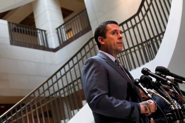 FILE PHOTO: House Permanent Select Committee on Intelligence Chairman Devin Nunes (R-CA) speaks to the media on Capitol Hill in Washington March 7, 2017.  REUTERS/Aaron P. Bernstein