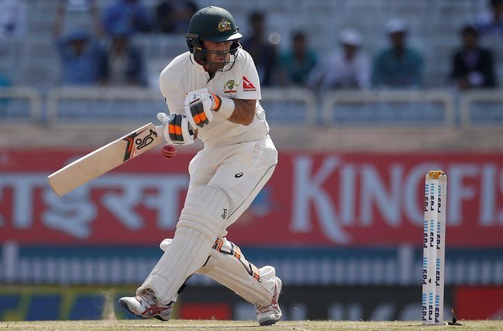Cricket - India v Australia - Third Test cricket match - Jharkhand State Cricket Association Stadium, Ranchi, India - 17/03/17 - Australia's Glenn Maxwell plays a shot. REUTERS/Adnan Abidi/Files