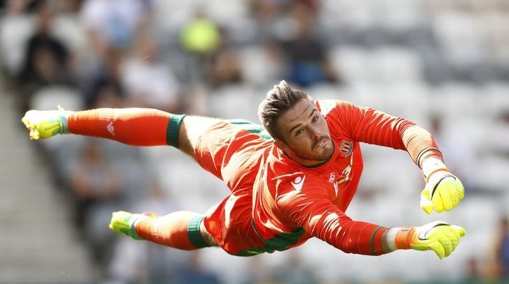 Britain Football Soccer - Preston North End v Stoke City - Pre Season Friendly - Deepdale - 23/7/16Stoke City's Jack Butland in action Action Images via Reuters / Carl Recine/ Livepic/ Files
