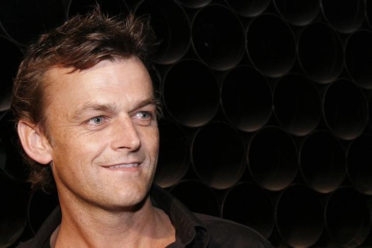 Australian cricketer Adam Gilchrist is seen at the venue of Wills Lifestyle India Fashion Week in New Delhi March 15, 2008. REUTERS/Vijay Mathur/File Photo