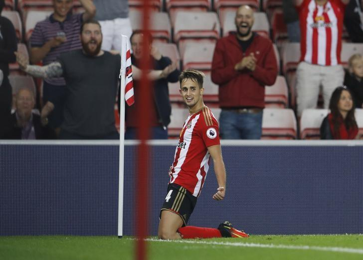 Football Soccer Britain - Sunderland v Shrewsbury Town - EFL Cup Second Round - The Stadium of Light - 24/8/16Sunderland's Adnan Januzaj celebrates scoring their first goalAction Images via Reuters / Lee Smith/ Livepic/ Files