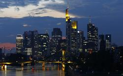 File photo of the skyline of the banking district in Frankfurt, September 18, 2014. REUTERS/Kai Pfaffenbach /Files