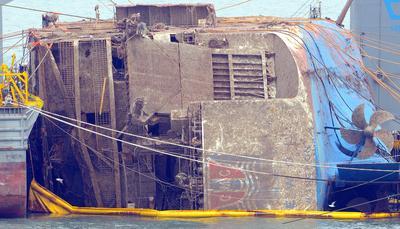 Sunken South Korean ferry raised
