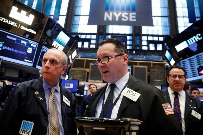 3月20日,纽约证交所内的交易员。REUTERS/Lucas Jackson